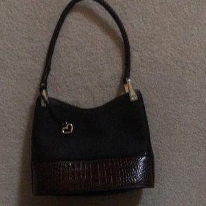 Brighton black/brown shoulder purse